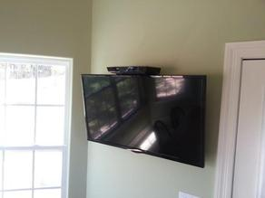 DVD, Cable Box, DVR, Above TV Adjustable Angle Shelf VESA 200mm Flat Panel HDTV