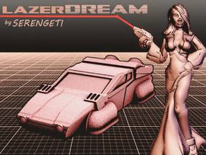 Serengeti LAZERDREAM (80's Hovercar in 18mm scale)