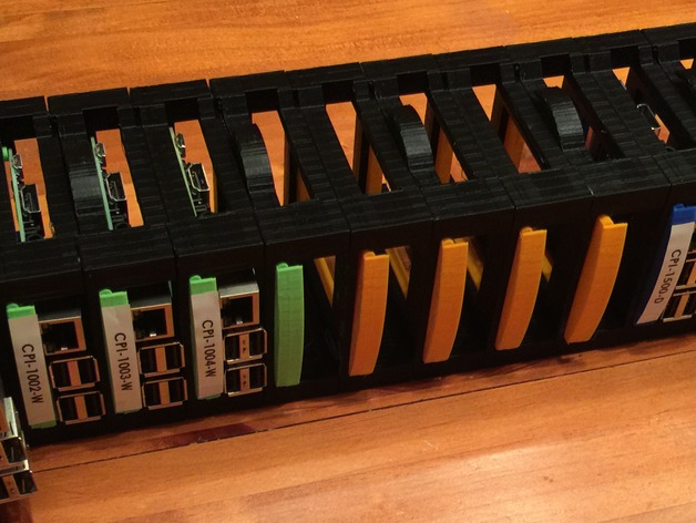 Raspberry Pi Blade Center Rackmount By 3dprintingerp