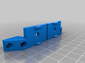 hypercube evo Y axis endstop microswitch mounts