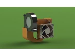 Creality CR-10 e3v6 hotend adapter mount w/ blower fan