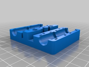 Prusa I3 X-Carriage for GT2 & T2.5 with 6x 30mm M3 holes and no belt ties