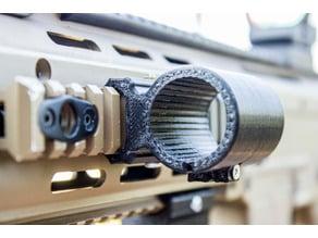 RIS Flashlight mount (26mm - kinda parametric)