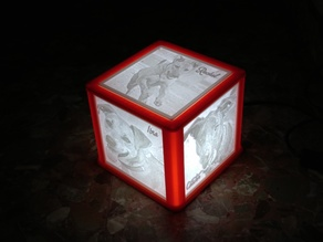 Lithophane Lamp Structure