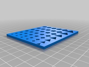 Small calibration panel for holes 85 x 72 mm for small printers like OneUp Tantillius Huxley Printrbot Simple etc.