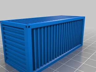 Container 20 feet flat HO model train