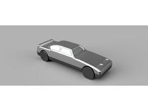 Model de petite voiture pour fonderie aluminium