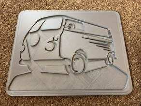 VW Bus wall plaque