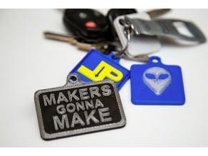 Keychains (Alien/MakersMake/MyLogo) - (UPDATED)
