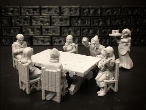 Townsfolke: Tavern Patrons (28mm/32mm scale)