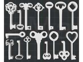 Collection of Keys 2D Wall Art