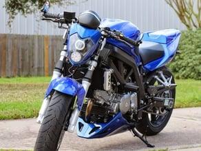 Suzuki SV650 Aura Headlight Mounting and Support Brackets