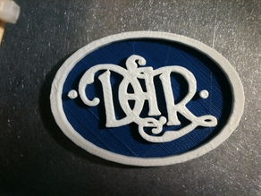 DAR Script Logo Medallion