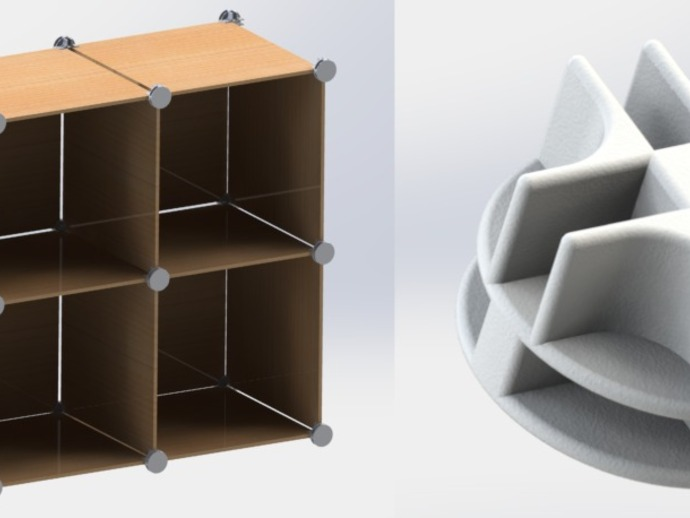 Modular shelving system by spacejunkie9 thingiverse for Furniture 3d printer