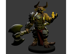 Minotaur Paladin/Fighter/Barbarian Miniature