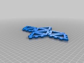 60mm hinge/snap Octahedron net