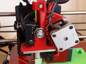 TAZ 5 strengthened Extruder Body with filament tube holder