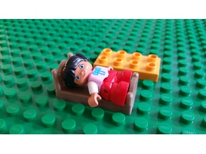 Doll Bed for LEGO Duplo figures