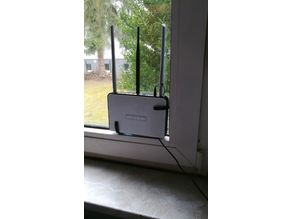 Router mount for window