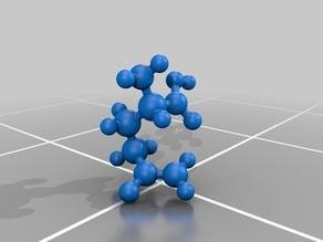 Molecular model - Glutamine - Atomic scale model