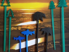 Great Outdoors Swizzle Sticks and Picks