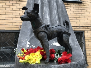 Laika Moscow Monument (Portion)