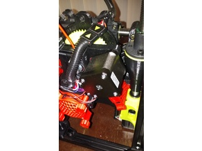 Llzbot Taz 6: Single Extruder Fan Grills and Housing and 3D screws