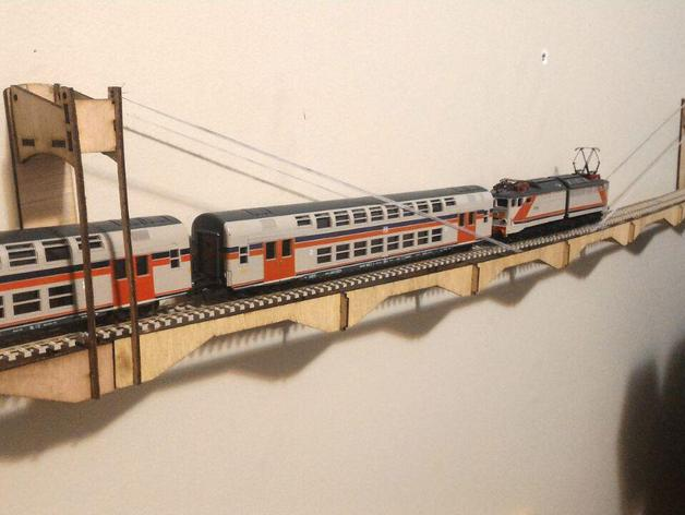 Ho Scale Wall Mount Bridge Laser Cut By Trapa Thingiverse