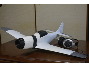 3D Printed Mustang p51. 900mm. Version 2. Optimized with extra features