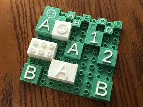 Customized Duplo Brick with Color Letters