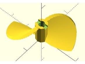 parametric rc boat prop maker