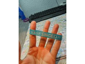 Keep calm and dont chase singed wristband