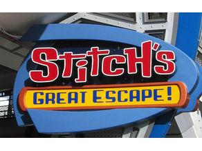 Stitch's Great Escape Sign