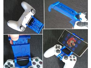 ps4 android universal . mount . clip . holder . smartphone . DualShock 4 ( v2 / rev 2 tested ) . branded playstation . NEW reinforcre V
