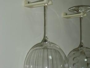 Wall-mount wine glass holder