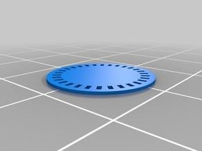 My Customized parametric encoder wheel