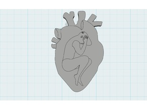 Pain in the heart Badge Pin