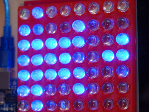 MAX7219 MEGA board LED grid aligner