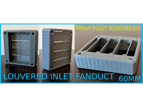 LOUVERED FAN VENT 60MM