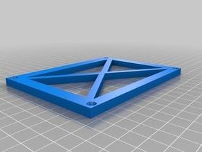 5 inch display backplate bracket - X design