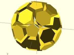 Exploded soccer ball