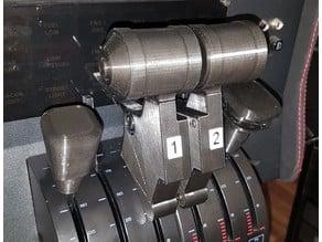 Airbus A320 single lever throttle with reverse blocker for Saitek throttle quadrant