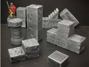ScatterBlocks: Cyclopean Stone Parts Expansion (28mm/Heroic scale)
