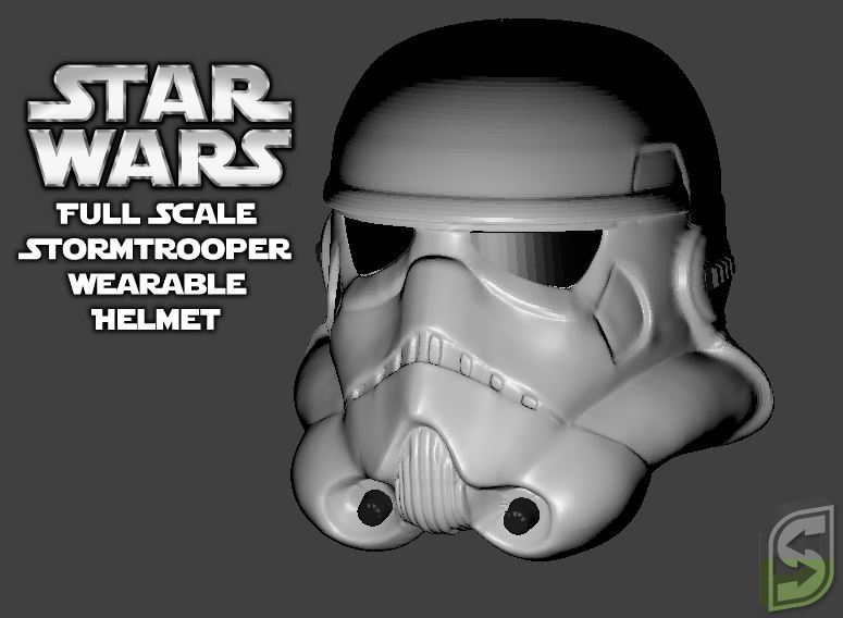 Full Scale Stormtrooper Helmet (wearable) by Geoffro