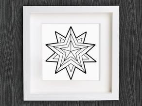 Customizable Origami Christmas Star No. 2