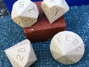 Pseudo 5 and 9 Sided Dice