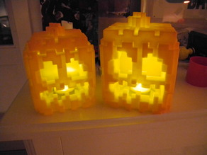 Minecraft Pumpkin for LED tea light (ABS)