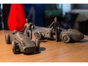 Fangio con flecha de plata