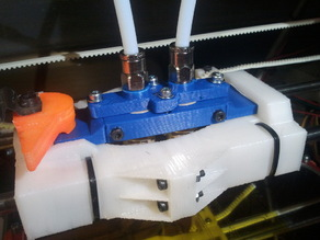 Dual Extruder mount for Prusa with bowden