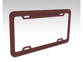 Pontiac license plate frame